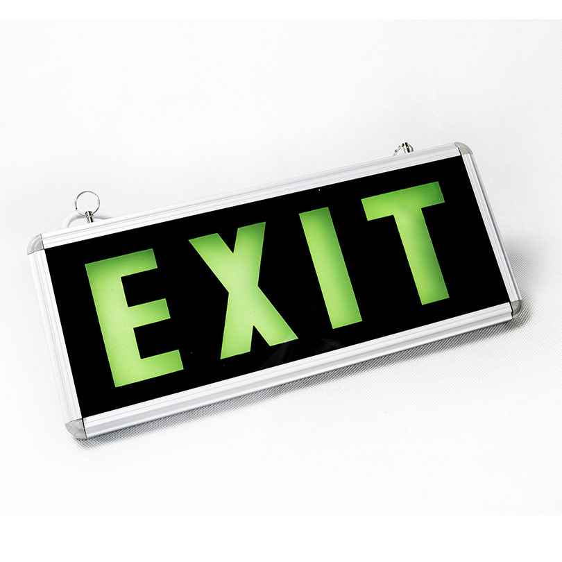 panneau exit Vert Led